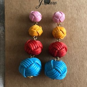 Jcrew love knot multi color earring
